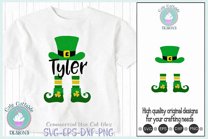 Leprechaun Hat Legs svg, Monogram Saint Patricks Day Cut svg