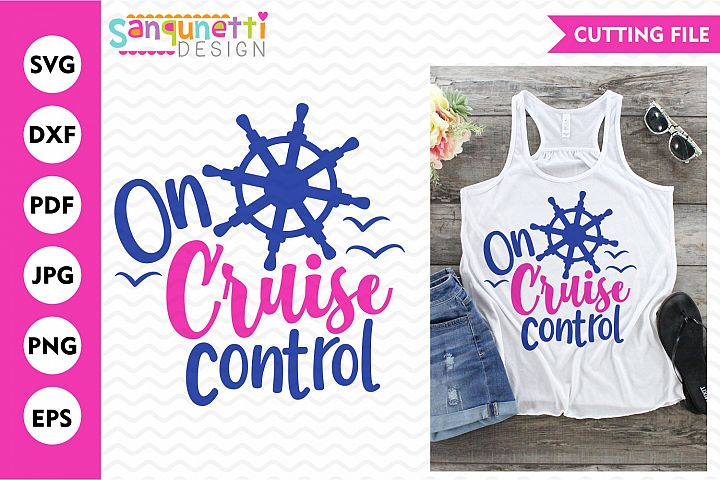 On cruise control svg, vacation cut file