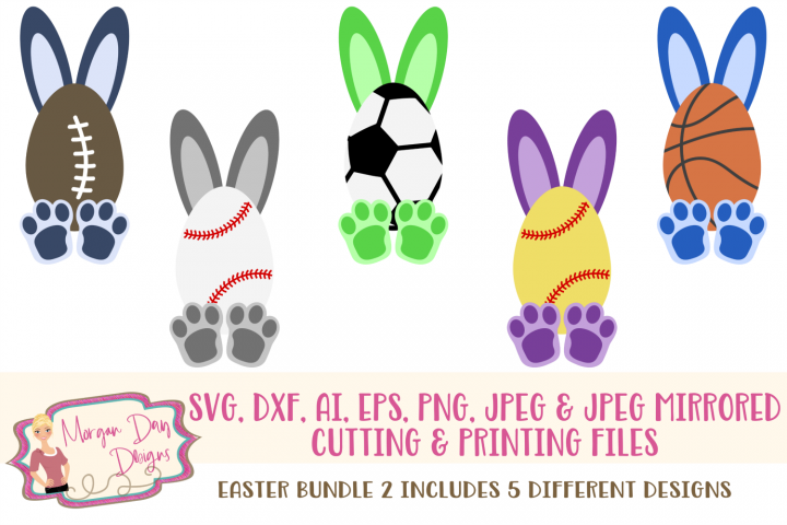 Easter SVG Bundle 2- Easter SVG, DXF, AI, EPS, PNG, JPEG