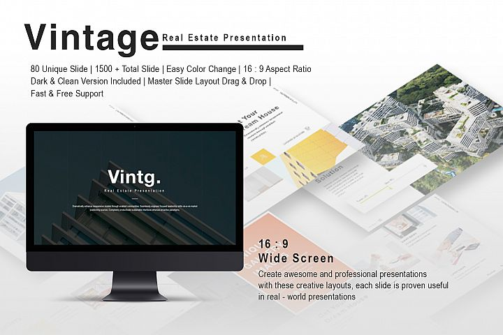 Vintage Real Estate Keynote Template