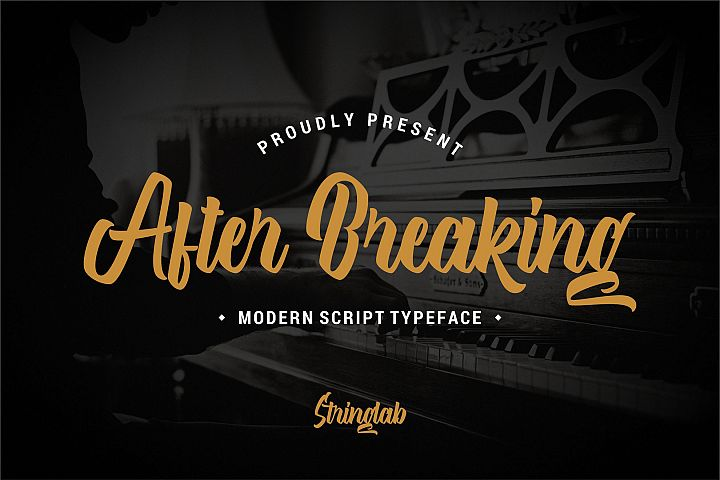 After Breaking - Modern Script Font
