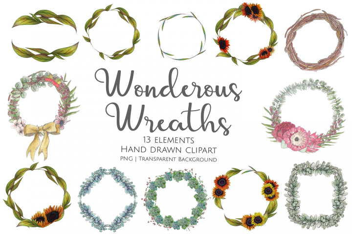Wonderous Wreaths Collection Clipart and Graphics