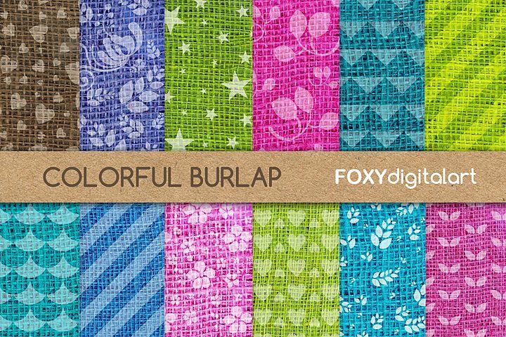 Digital paper burlap linen jute sackcloth canvas texture