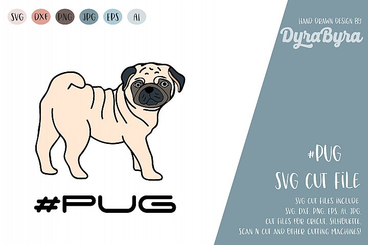 PUG Dog SVG / Mops SVG / Dogs SVG Vector File