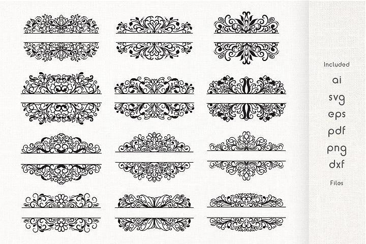 Split Monogram Divider Frames