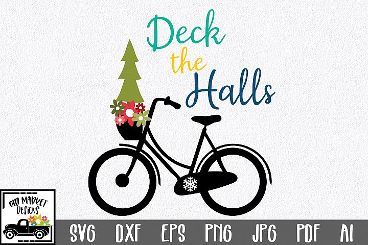 Christmas SVG Cut File - Deck the Halls SVG DXF EPS PNG PDF