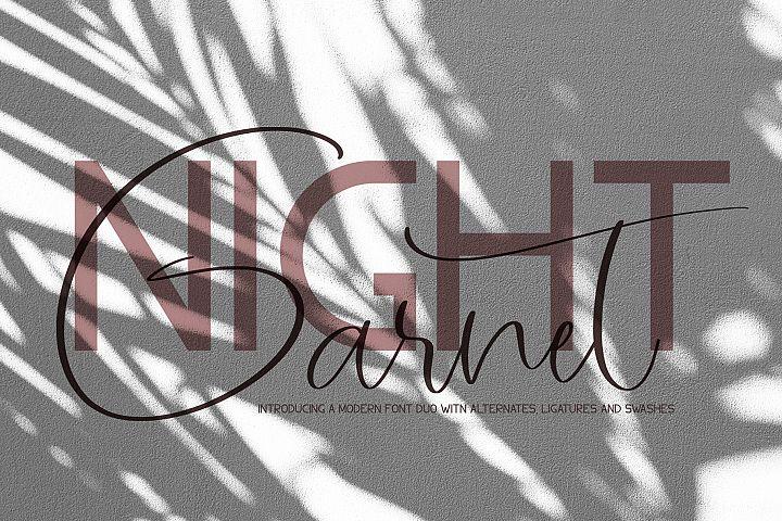 Garnet Night Font Duo