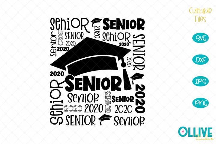 Senior 2020 Word Art SVG
