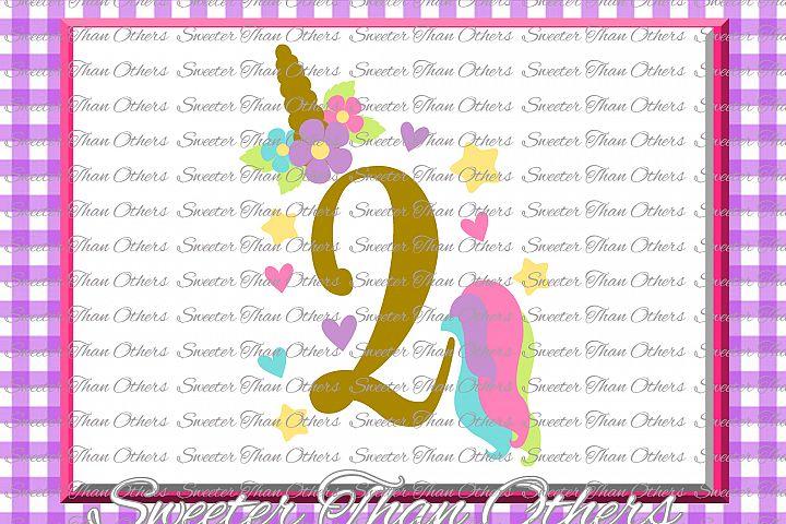 Second Birthday SVG, 2nd Birthday Unicorn svg