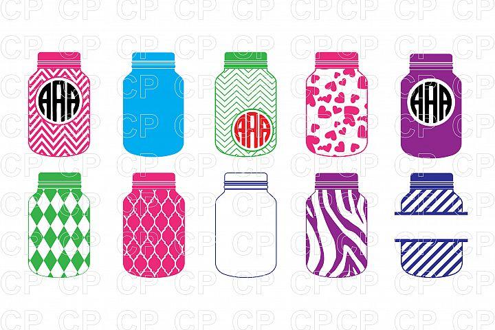 Mason Jar Bundle  SVG Cut Files, Mason Jar Clipart