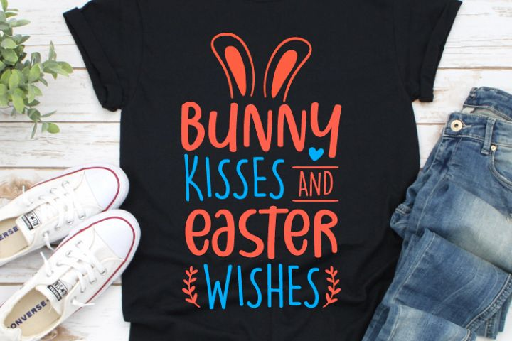 Bunny Kisses and Easter Wishes Svg, Easter Svg, Cut File