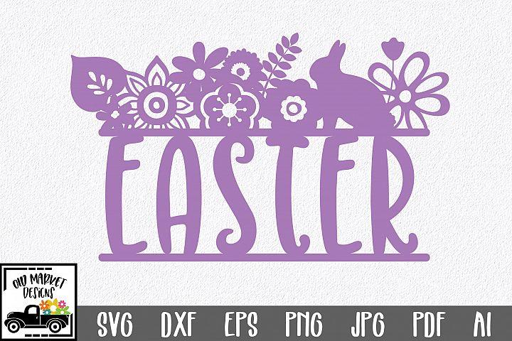 Easter SVG Cut File - Easter Floral SVG DXF EPS PNG AI