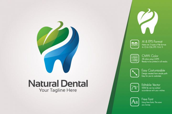 Natural Dental Logo Template