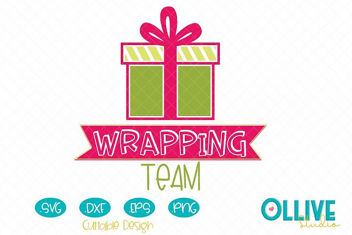 Svg Christmas Wrapping Team