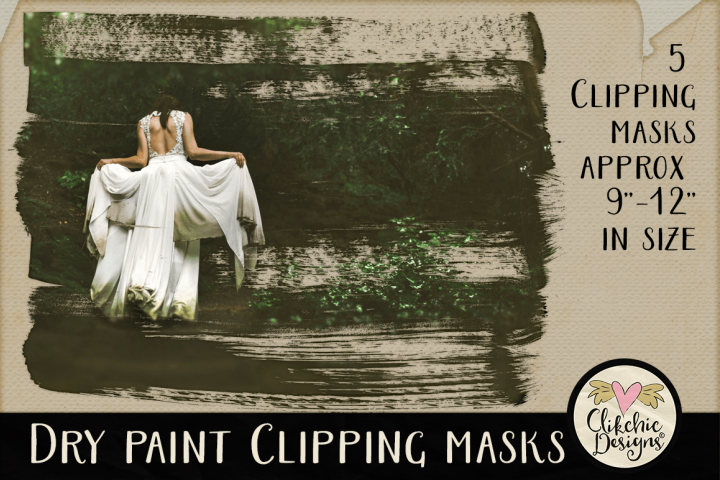 Dry Paint Photoshop Clipping Masks & Tutorial