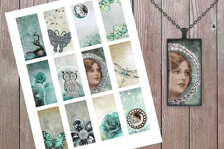 Jeweled Collage Sheet