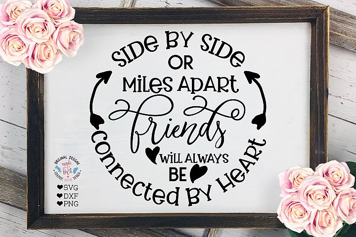 Friends will be Connected By Heart - Friendship Quote