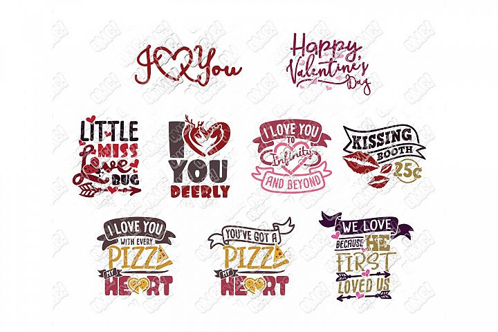 Valentine Quotes SVG Phrases Bundle in SVG/DXF/PNG/JPG/EPS example image 5