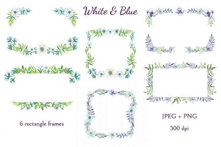 White and Blue - Free Design of The Week Design1
