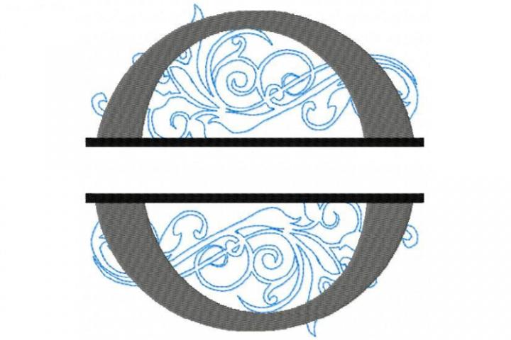O Split Monogram Embroidery Font