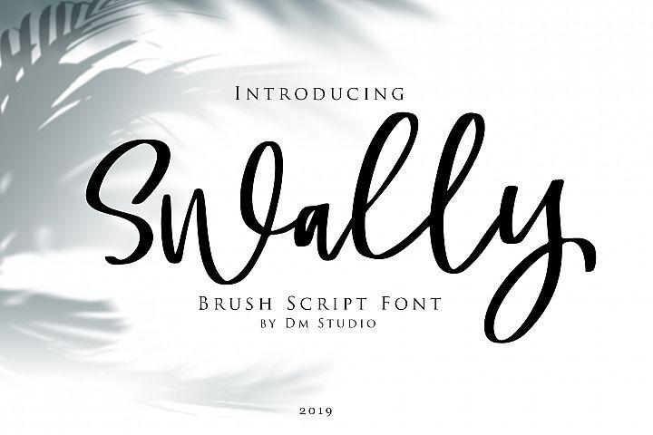 Swally - Brush Script Font