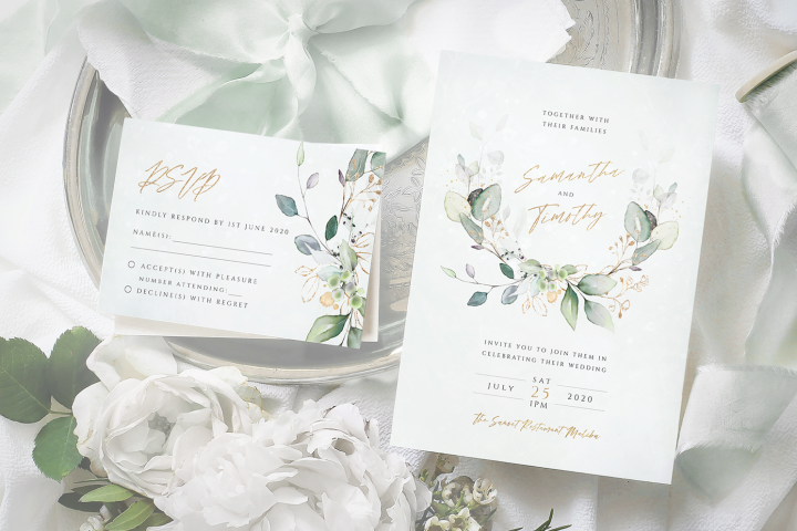 Eucalyptus Laurel Wedding Invitation