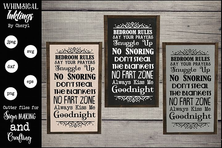 Bedroom Rules Set