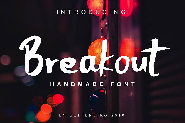Breakout Natural Font