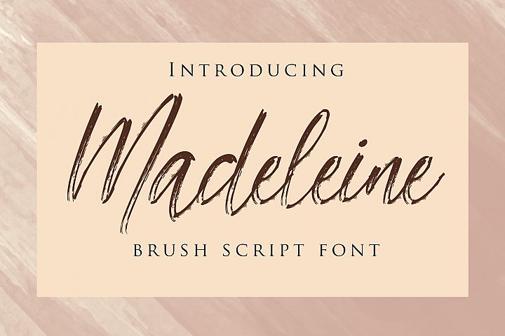 Madeleine - Brush Script Font