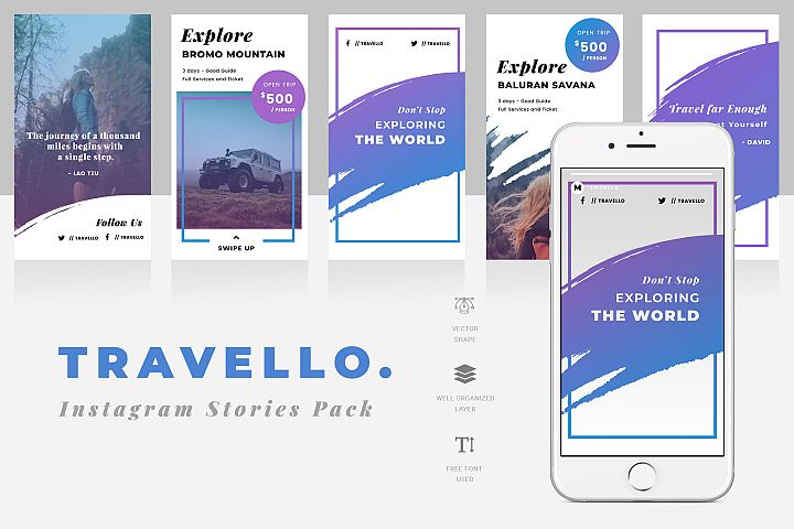 Travello Instagram Stories Template