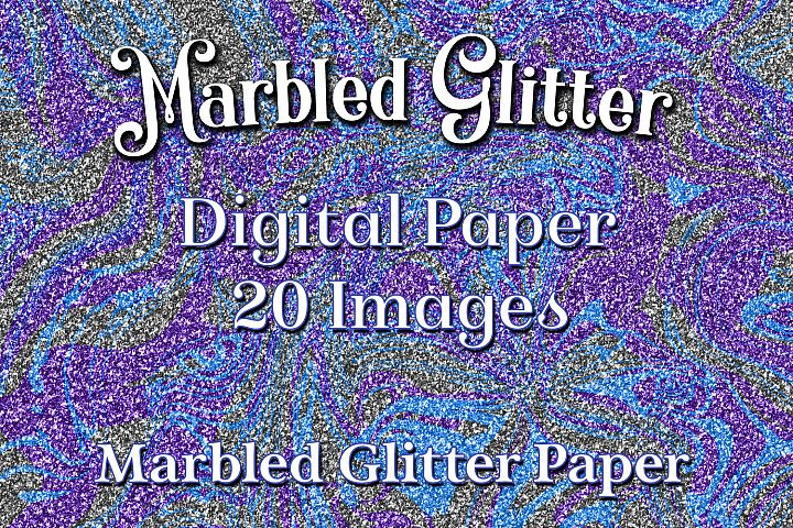 Marbled Glitter - 20 Digital Paper / Backgrounds / Textures