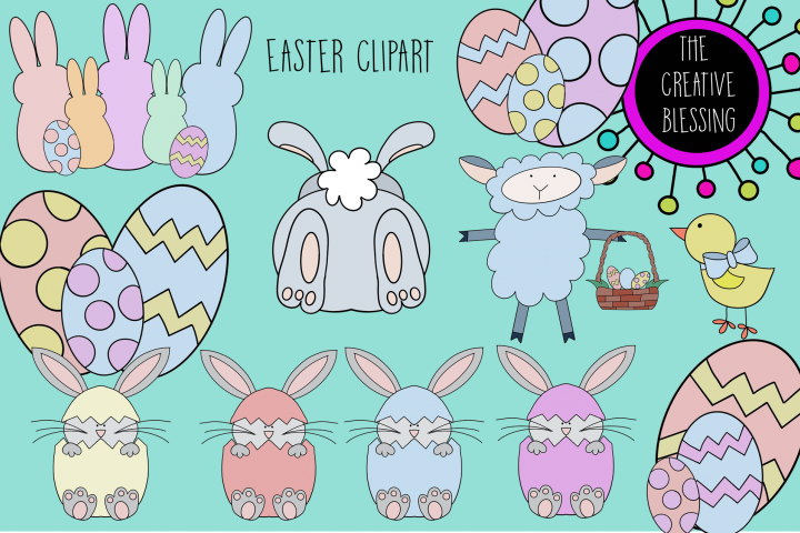 Hand Drawn Easter Clipart