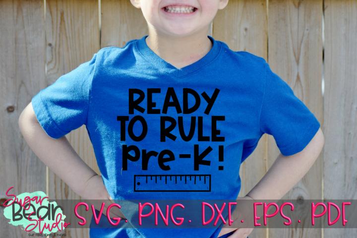 Ready to Rule Pre-K - A School SVG
