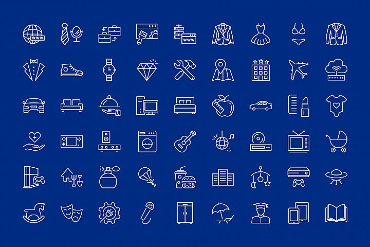54 icons for web and devices