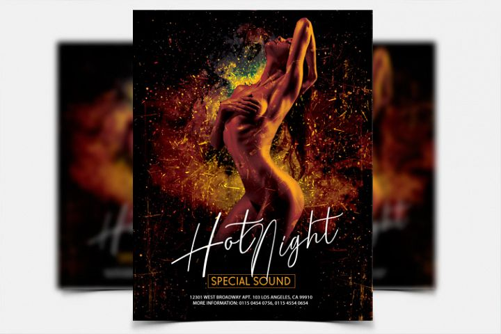 Hot Night - PSD Flyer Template