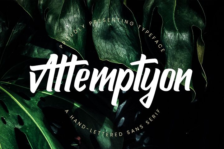 Attemptyon Sans Serif Typeface