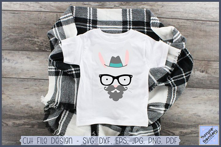 Hipster Rabbit - SVG, Clipart, Printable
