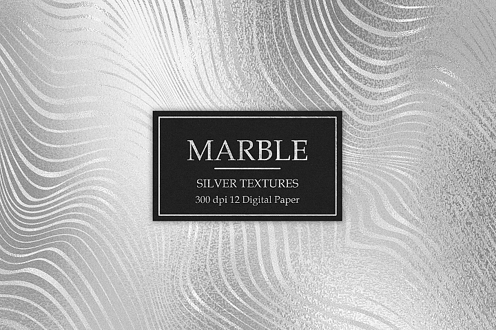 Marble, Silver Textures