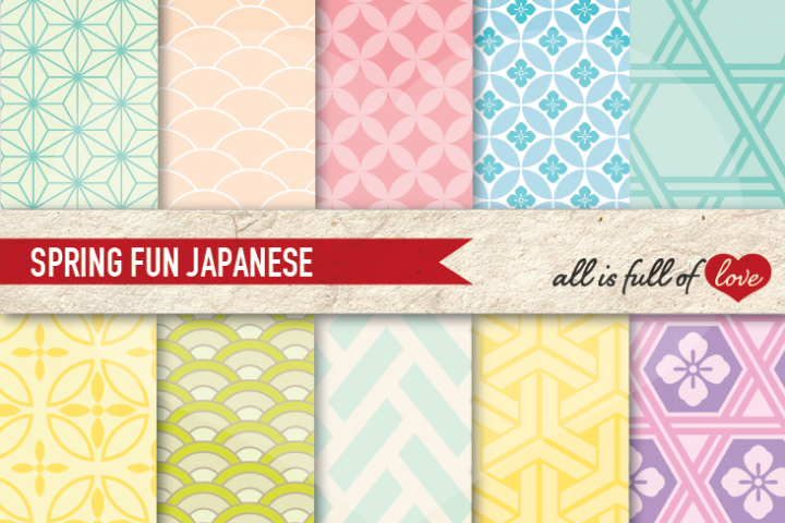 Pastel Backgrounds Japanese Digital Graphics to Print
