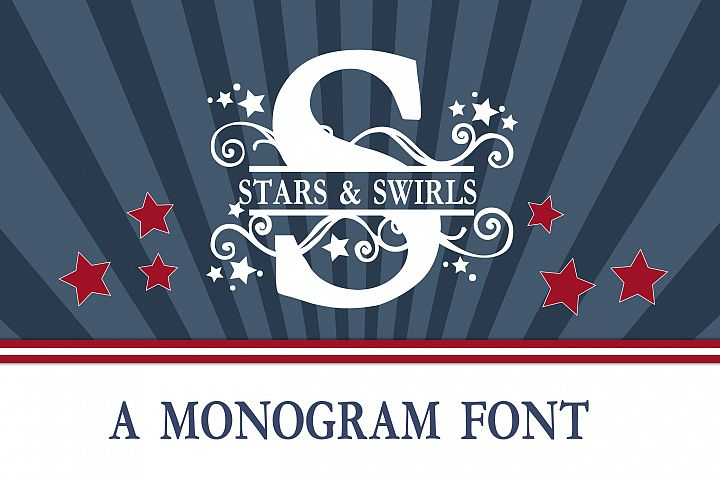 PN Stars & Swirls Monogram Banner Font - Free Font of The Week