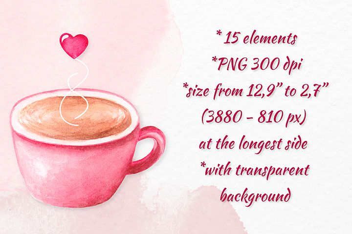 Valentine's day clipart Watercolor Love clipart Heart frame example image 3