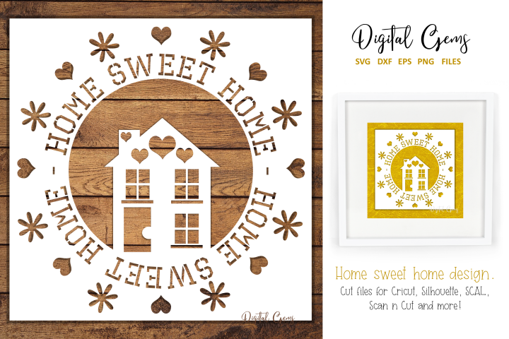 Home sweet home. SVG / DXF / EPS / PNG