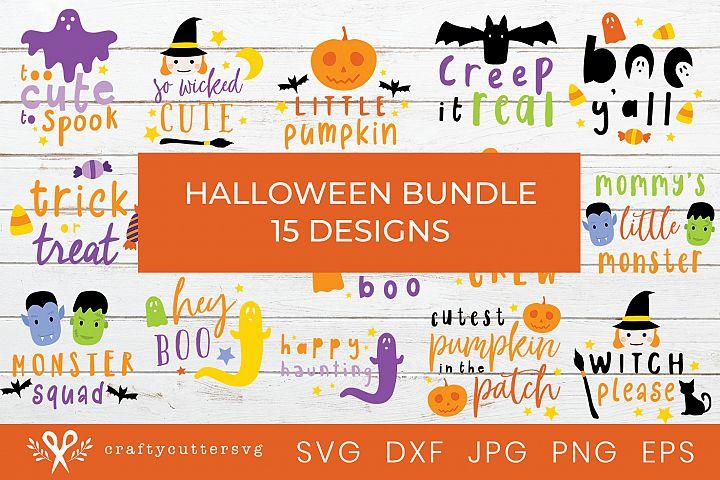 Halloween Svg Bundle Cut Files Ghost Witch Pumpkin Clipart