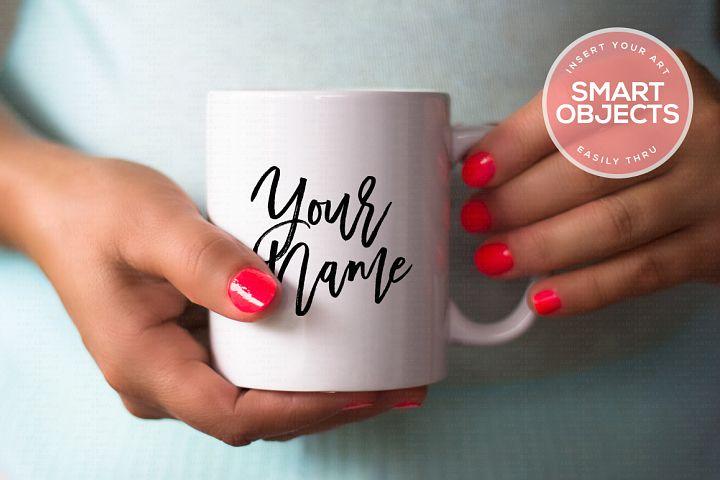 Hands Holding Mug Mockup #4