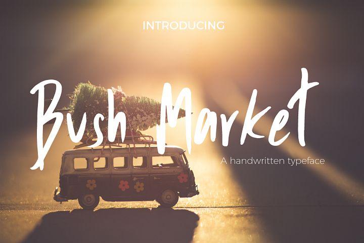 Bush Market Script Font