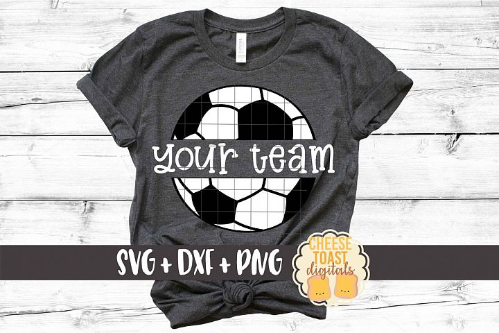 Split Soccer Ball - Personalized Soccer SVG PNG DXF Files
