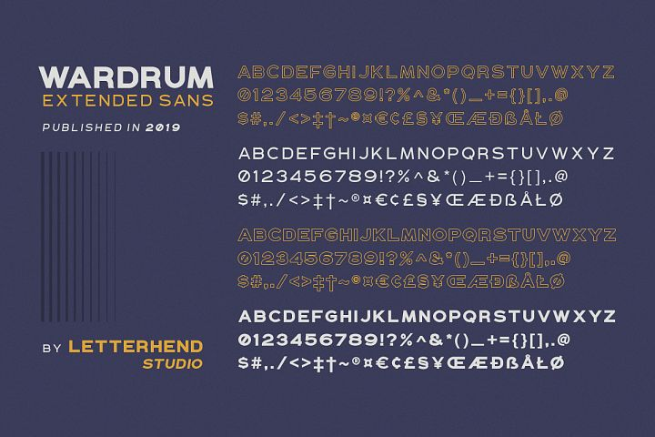 WARDRUM - Expanded Sans example image 9