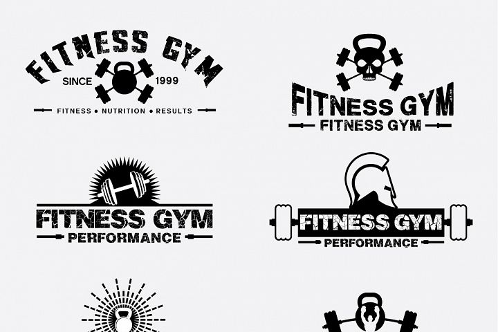 Fitness Gym - Labels & Badges