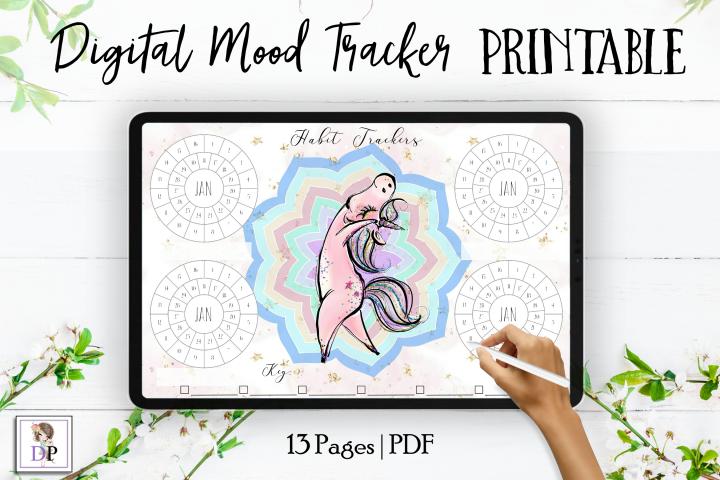 Digital Habit Trackers Y4 Yoga Series for Planner PRINTABLE