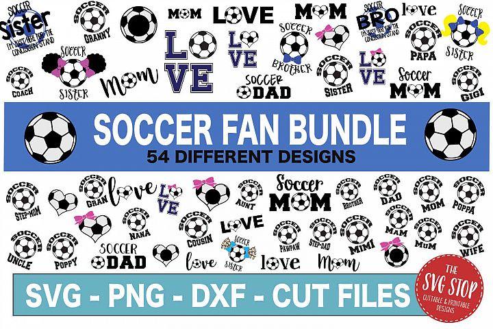 Soccer Fan Bundle -SVG, PNG, DXF